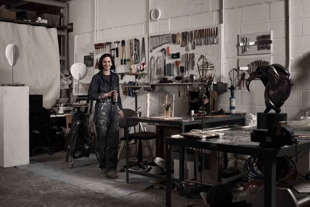 Briony Marshall in Pangolin London Studio in 2013 (copyright Simon Stanmore)