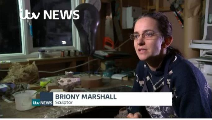 Briony Marshall talking on ITV News at 10